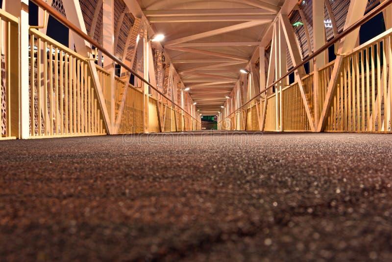 Inside Pedestrian Bridge on Dubai-Sharjah road, Dubai, United Arab Emirates.  royalty free stock photography