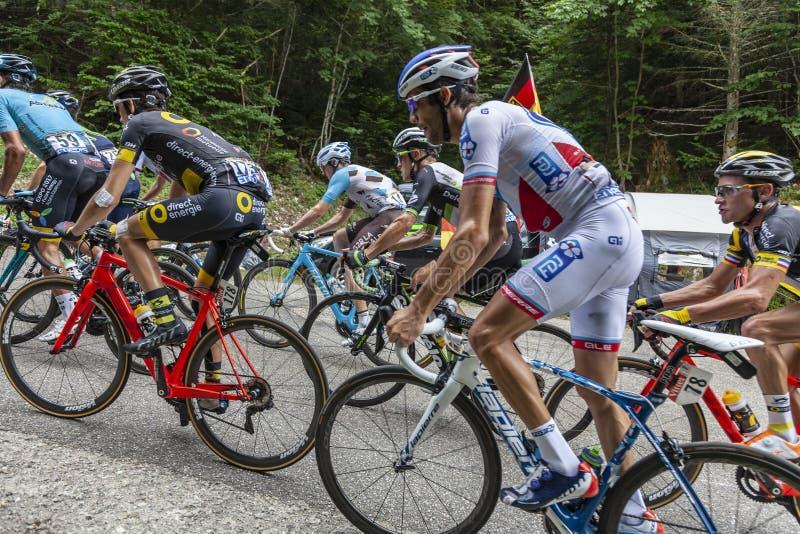 Inside the Peloton - Tour de France 2017 royalty free stock photography