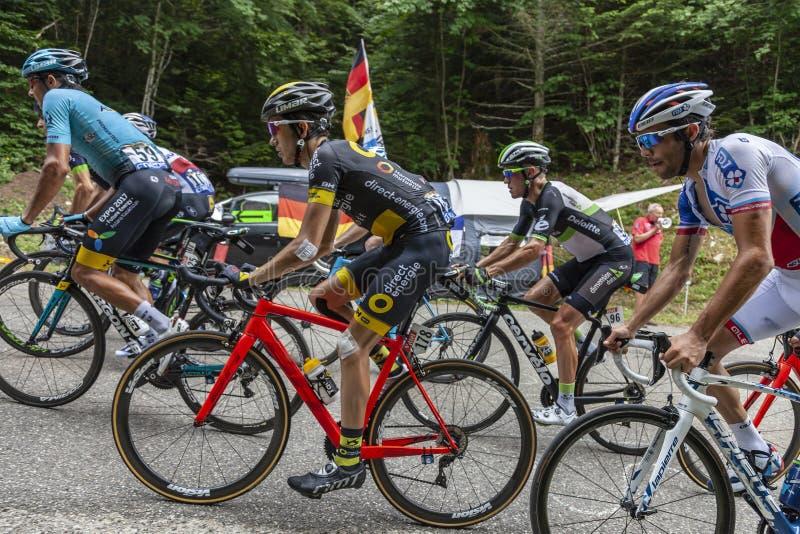 Inside the Peloton - Tour de France 2017 royalty free stock photos