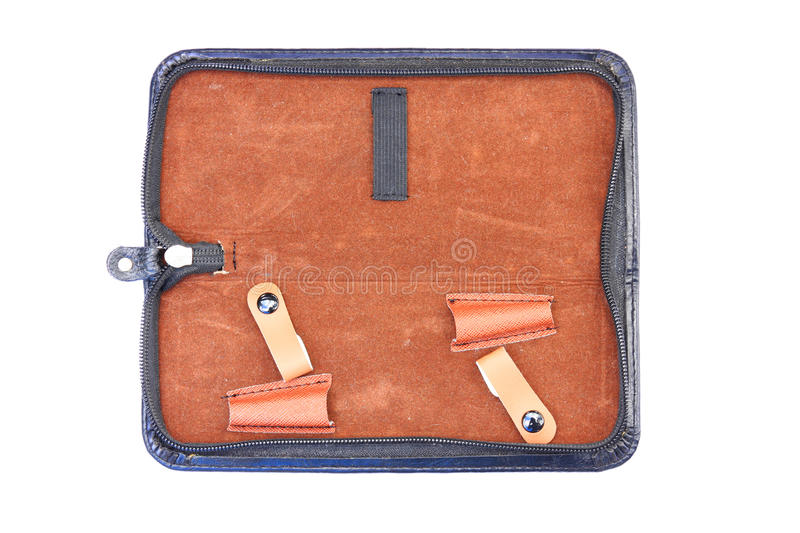 Inside of pen pouch. The inside of pen pouch stock photography