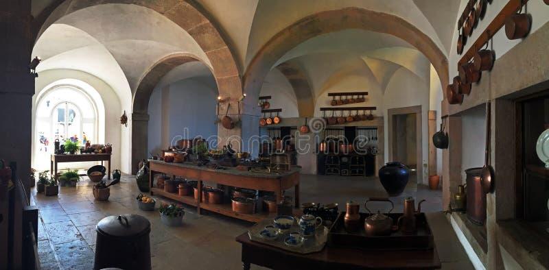 Inside The Pena Palace Kitchen Stock Image - Image of kitchen, blue ...