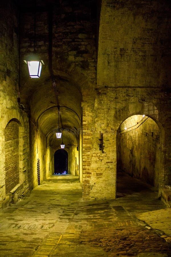 Inside Perugia obraz stock