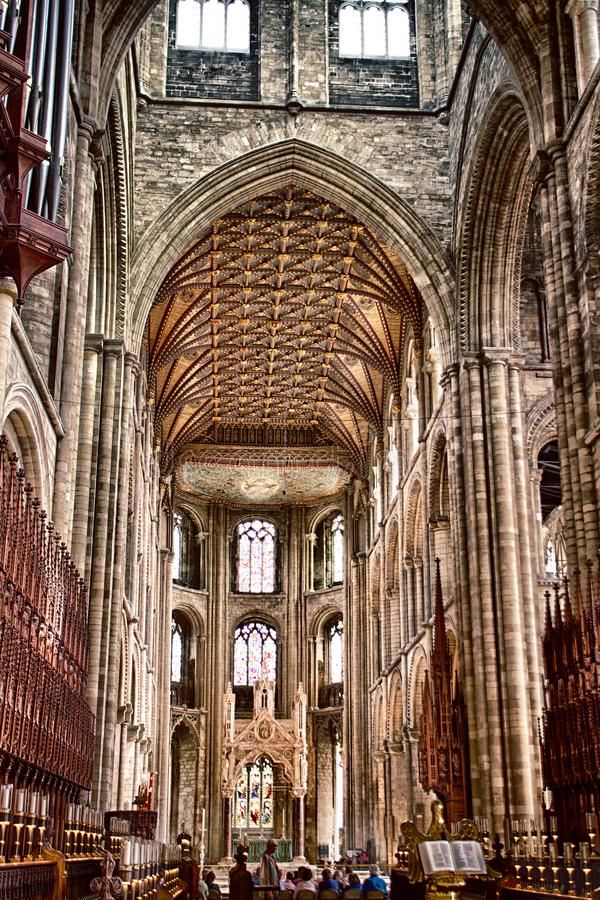 Inside Peterborough Cathedral royalty free stock photography