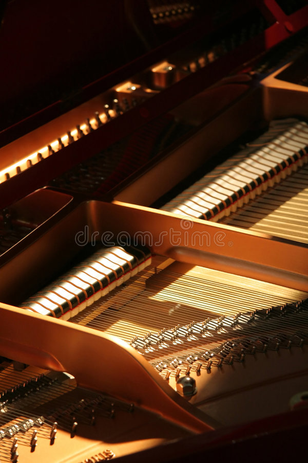 Inside piano royalty free stock photography