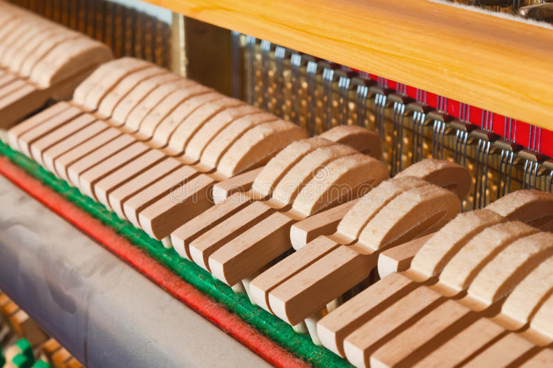 Inside the piano royalty free stock image