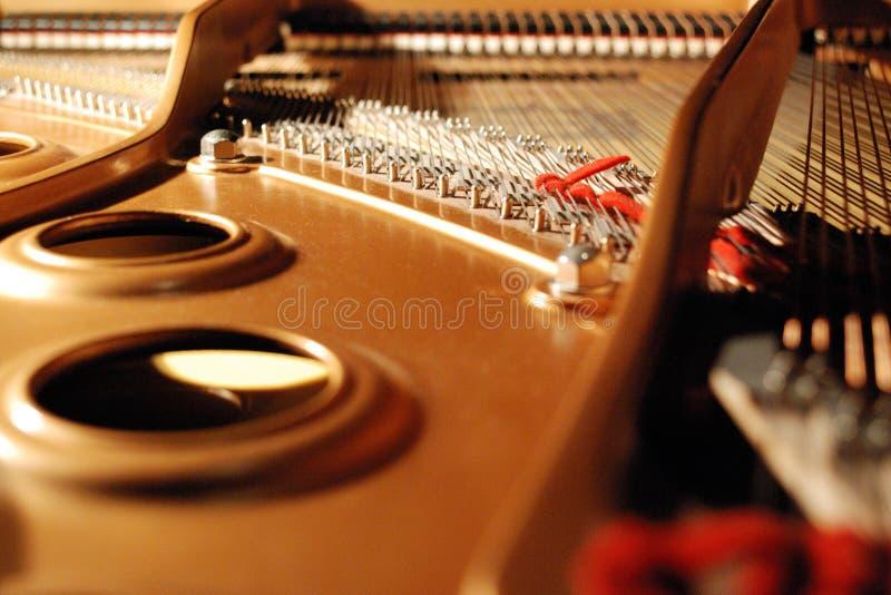 Inside a grand piano royalty free stock photos