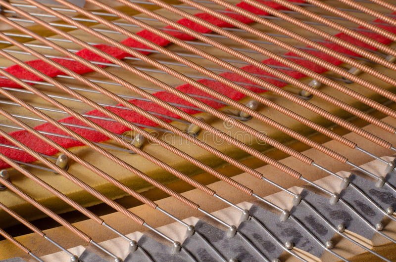 Inside of a piano stock photo