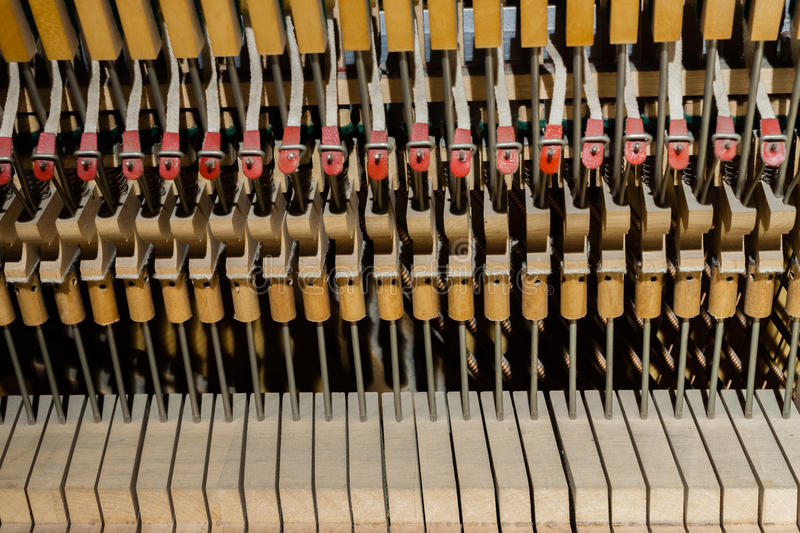 Inside Of The Piano Royalty Free Stock Image
