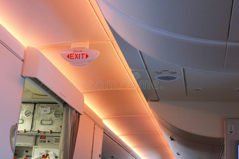 Inside of plane There are various warning lights. Inside of plane There are various. warning lights royalty free stock images