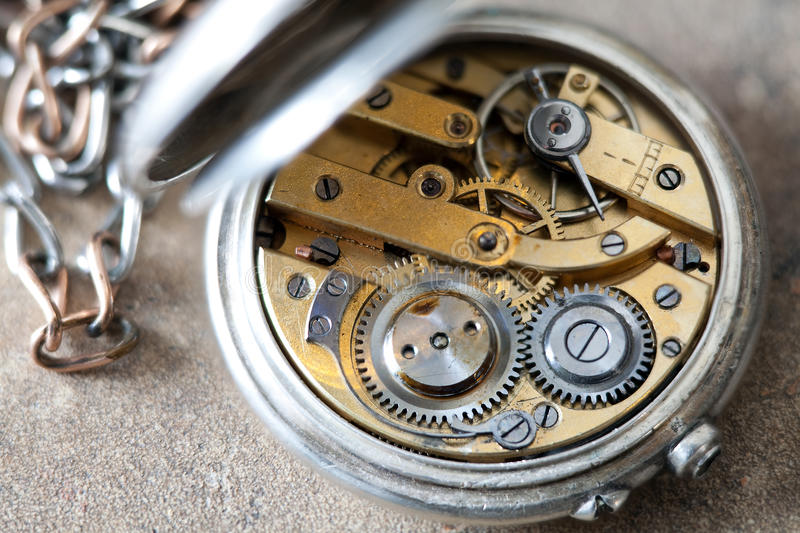 Inside a pocket watch royalty free stock photos