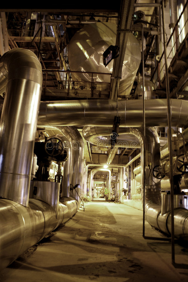 inside power plant royalty free stock images