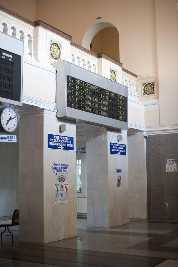 Inside railway station in Chisinau stock image