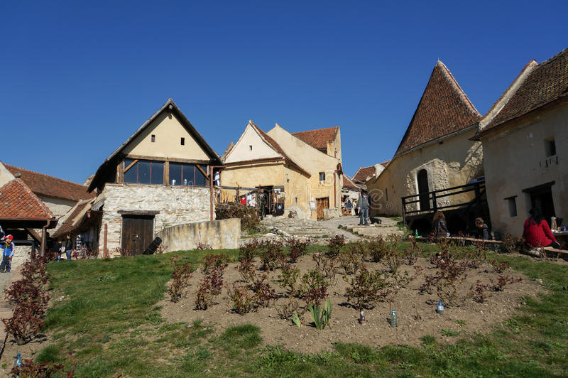 Inside Rasnov forteca, Transylvania obraz royalty free