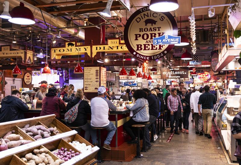Inside of Reading Terminal Market royalty free stock photo