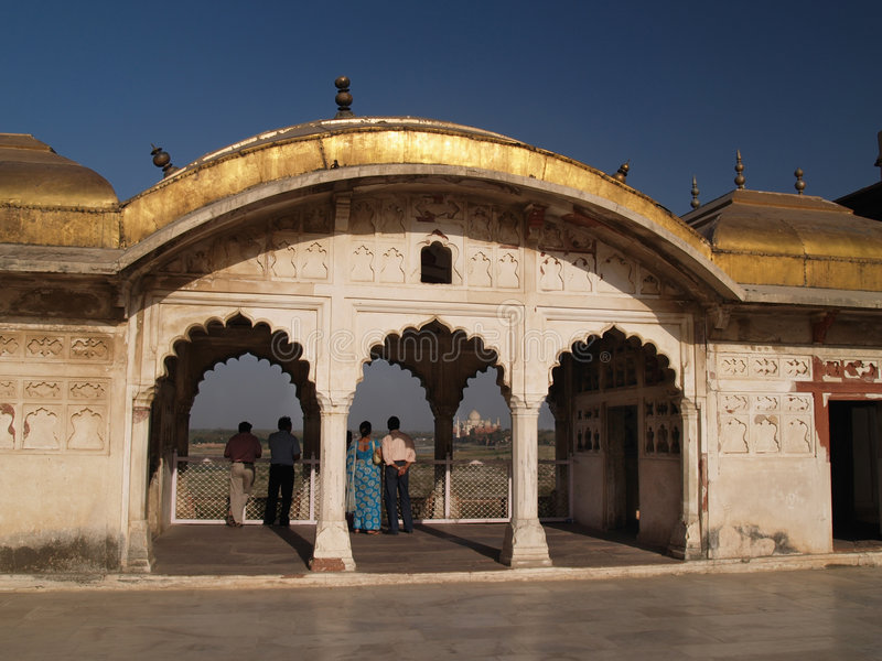 Inside of the Red Fort in Agra, India stock photo