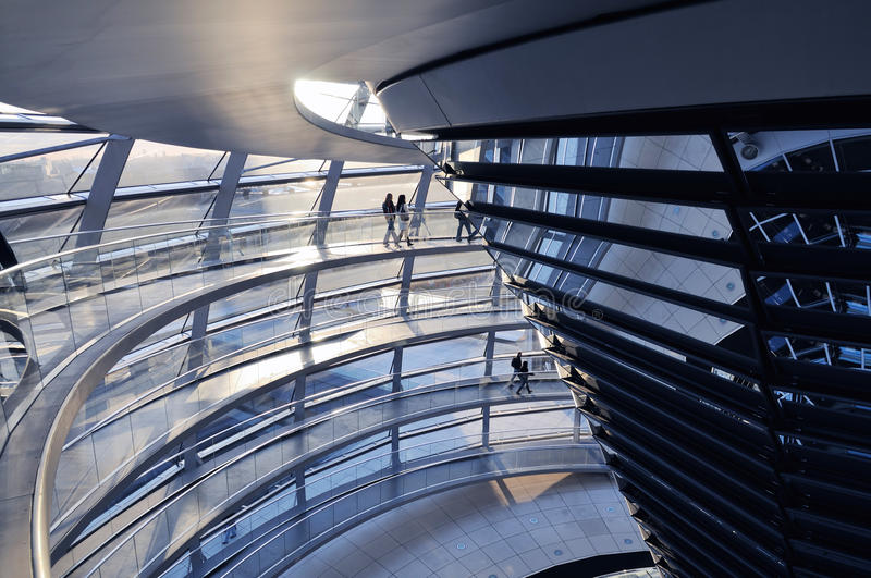 Download Inside the Reichstag Dome stock image. Image of government - 20090163
