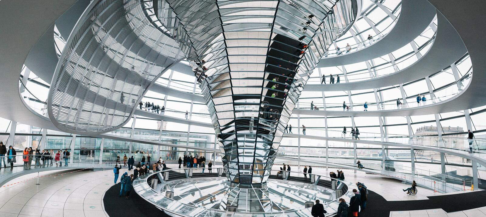 Inside the Reichstag Dome royalty free stock photos