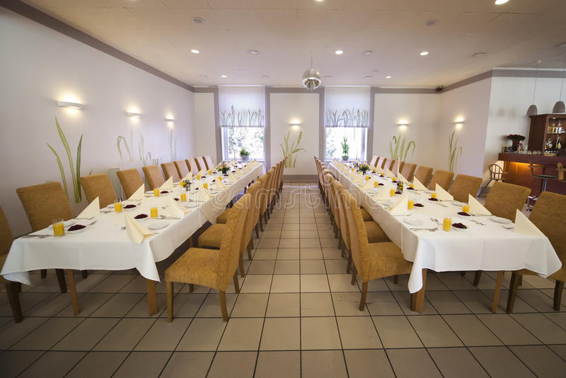 Inside the restaurant royalty free stock photos