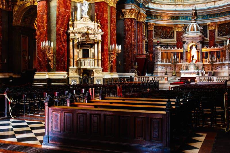 Inside Saint Stephen Basilica stock image