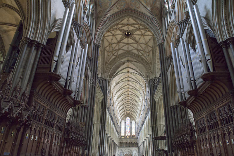 Interior Salisbury Cathedral royalty free stock photography