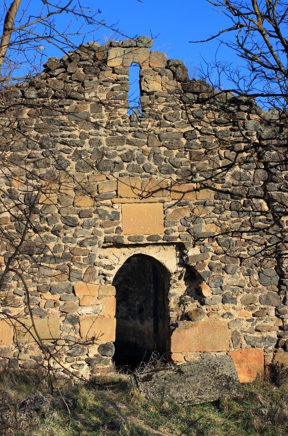 "Inside Samshvilde Sioni. Samshvilde Sioni church, built in 759-777 by the local grandees, Varaz-Bakuri, his brother Johan and sister Deborah, called ""the stock images"