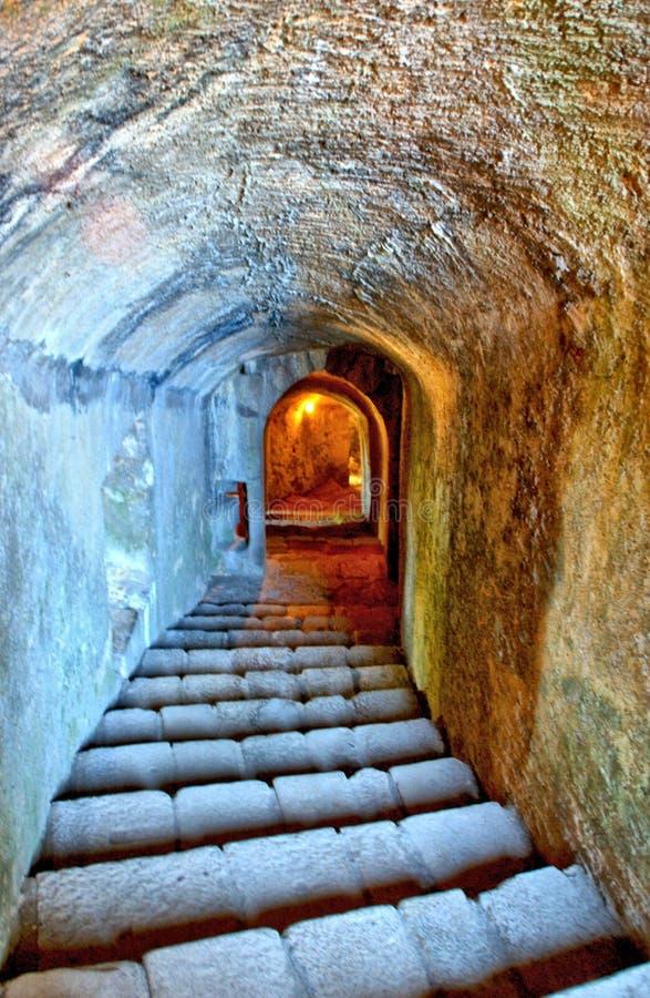 Inside Santa Maria da feira castle. Portugal royalty free stock photography
