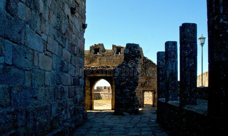 Inside Santa Maria da feira castle. Portugal royalty free stock photo