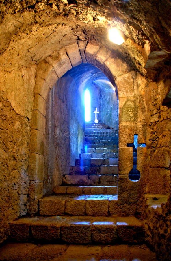 Inside Santa Maria da feira castle. Portugal stock photos