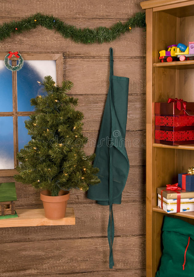 Download Inside Santas Workshop stock image. Image of xmas, tree - 10907405