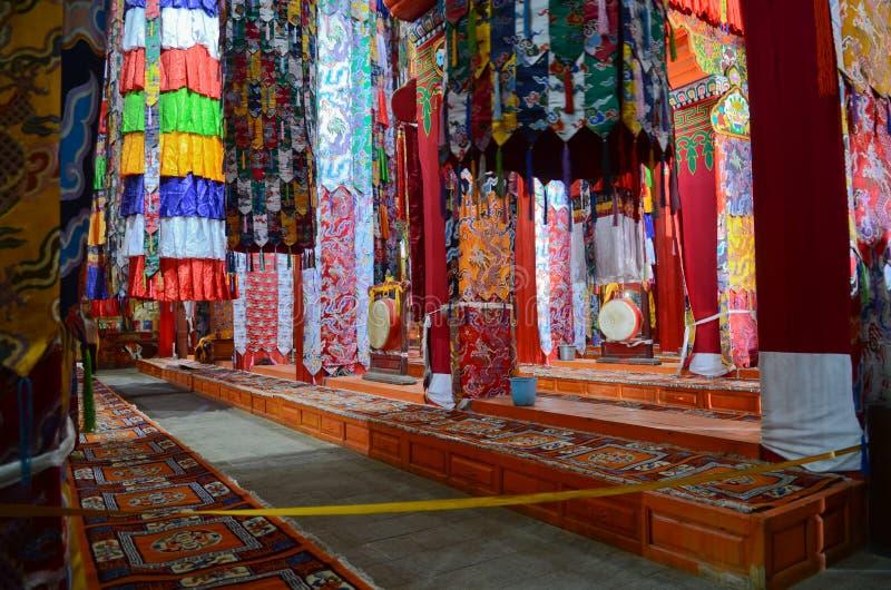 Inside spojrzenie Ganden Sumtseling monaster obraz royalty free