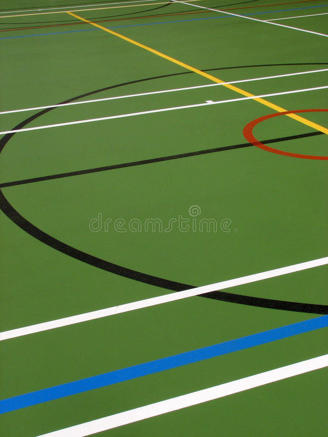 Inside sports hall stock image