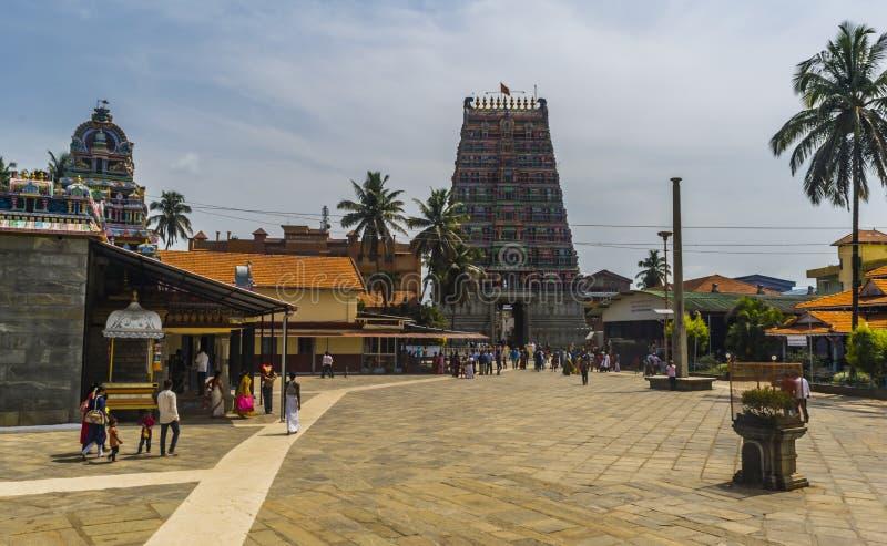Inside the Sringeri Temple royalty free stock images