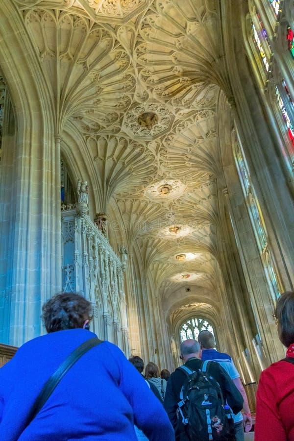 Inside St. George Chapel. Windsor Castle. UK stock images