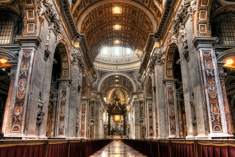 Inside St. Peters royalty free stock photography