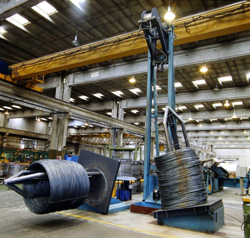 Inside of a steel factory. Inside of a big steel factory. Metal industry