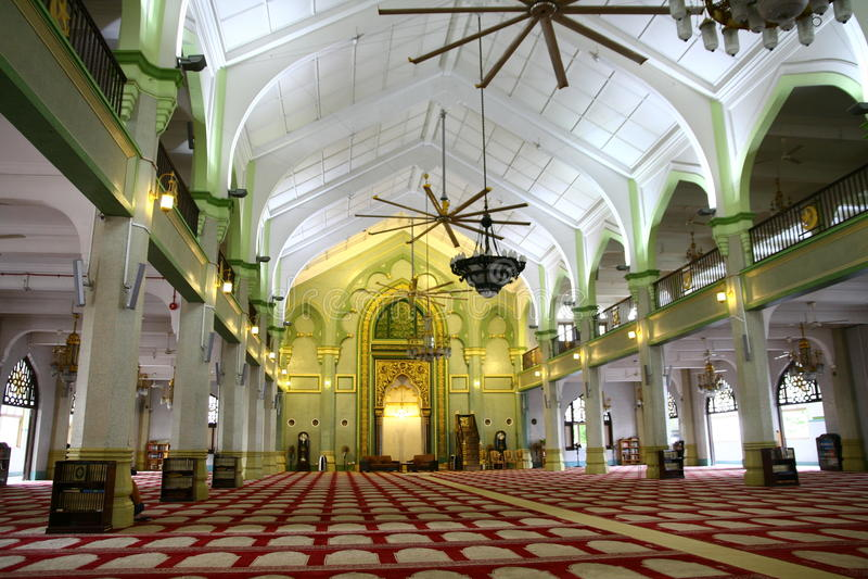 Inside sułtanu meczet obrazy stock