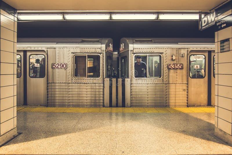Inside subway royalty free stock image