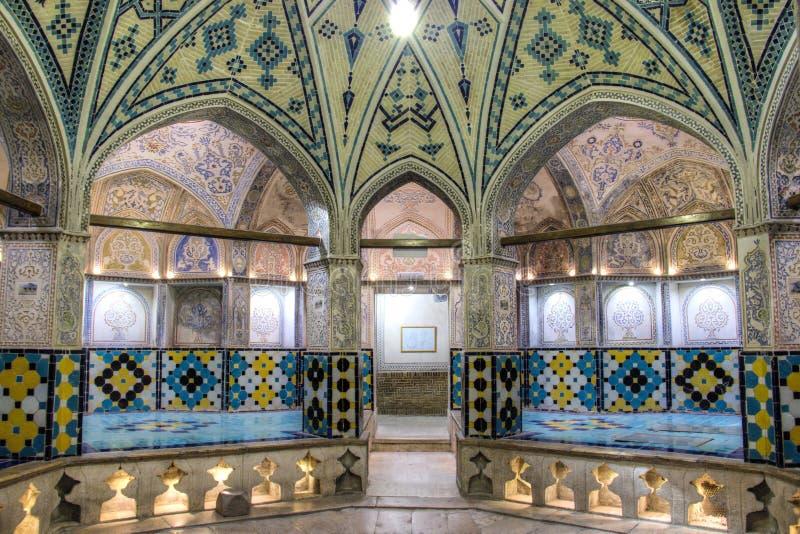 The Sultan Amir Ahmad bathhouse in Kashan, Iran stock image