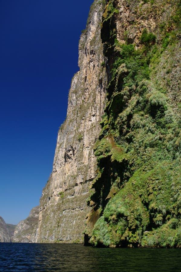 Inside Sumidero Canyon near Tuxtla Gutierrez in Chiapas. Mexico stock photography