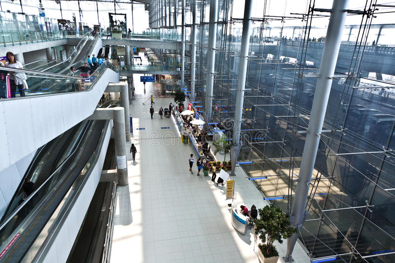 Inside Suvarnabhumi International Airport Editorial Photography