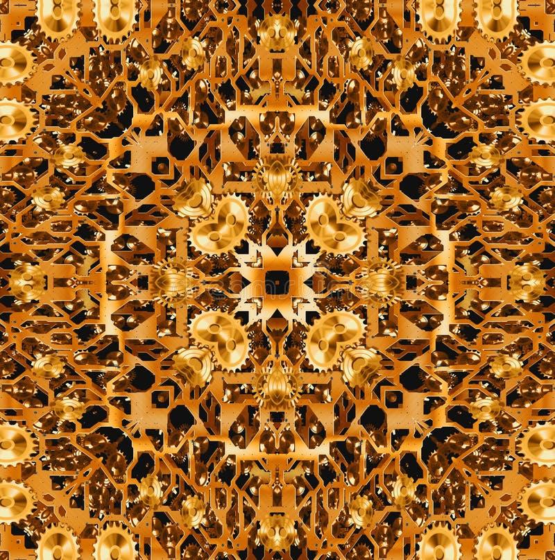 Inside tła złocisty przekładni działanie obraz stock