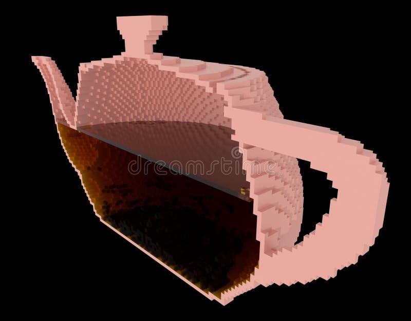 Inside the teapot royalty free stock photos