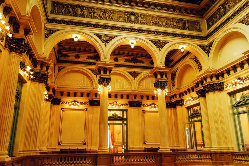 Inside Teatro Colon in Buenos Aires stock image