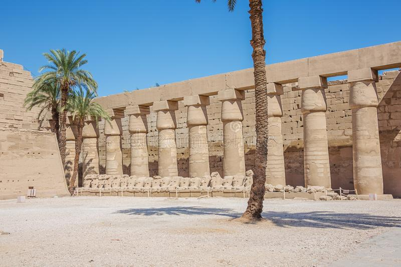 Inside the temple of Amun. In the Temple Complex of Karnak royalty free stock photography