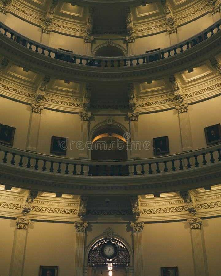 Inside the Texas state capitol building stock photography