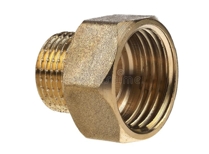 1/2` inside thread to 3/8` outside thread adapter stock images
