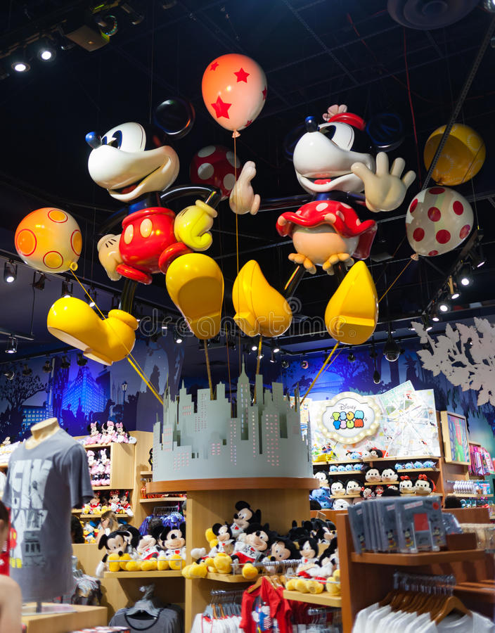 Inside times square Disney sklep zdjęcie stock