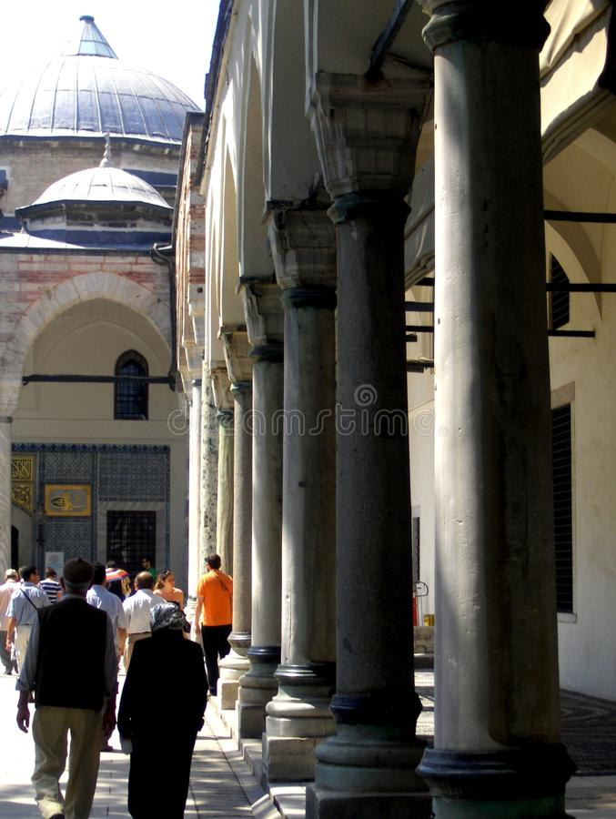 Inside Topkapı Palace. The Topkapı Palace (Turkish: Topkapı Sarayı) is a large palace in Istanbul, Turkey, that was the primary residence of the stock image