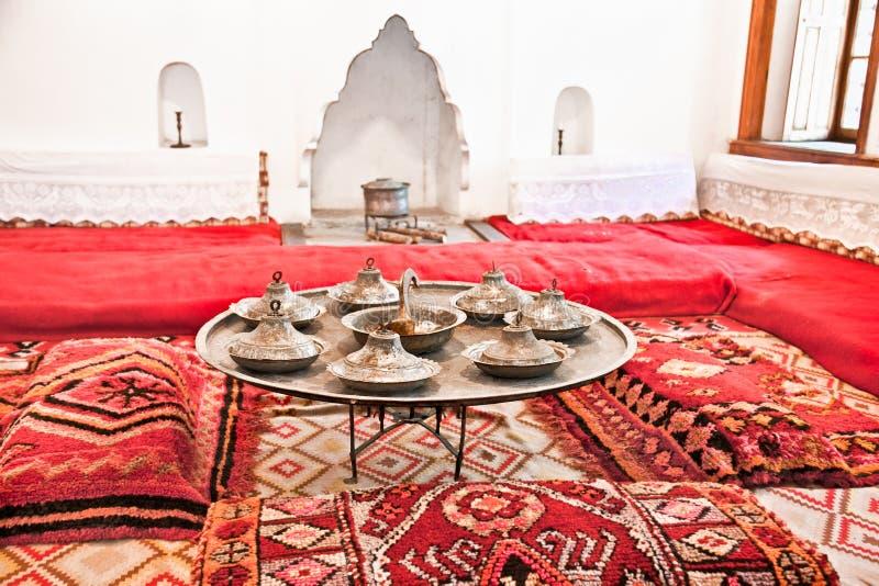 Inside traditional Albanian house in Gjirokaster. royalty free stock photos