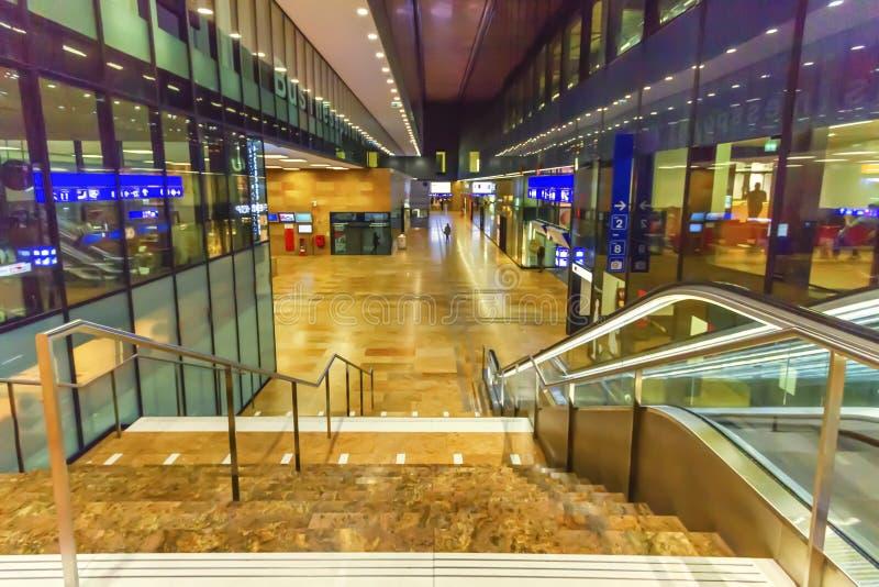 Inside train station, Geneva, Switzerland royalty free stock images